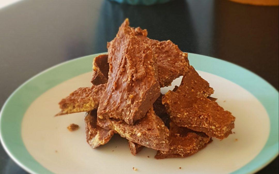 Raw Maca & Choc Bark With Peanut Butter Swirl